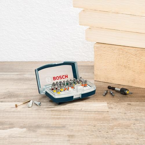 juego de puntas p/atornillador bosch en set de 32 piezas