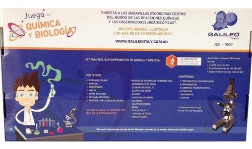 juego de quimica y biologia galileo c/ microscopio jqb-1000