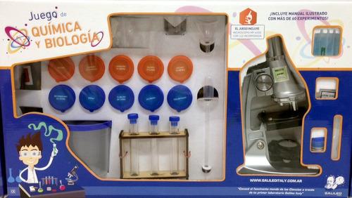 juego de quimica y biologia galileo con microscopio incluido