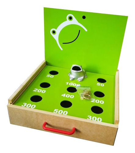 juego de rana portátil en madera para mesa artesanal