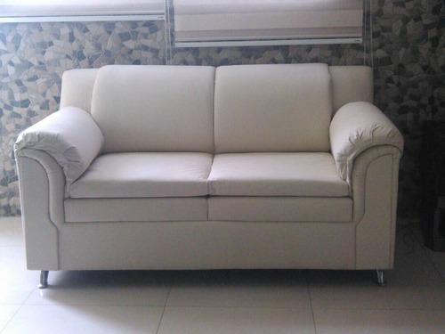 juego de recibo sofás de 2 y 3 puestos sala  muebles bipiel