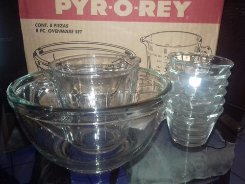 juego de refractarios de vidrio para preparar gelatina