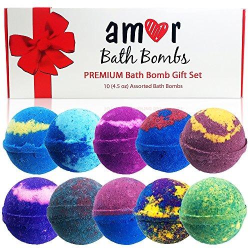 Juego De Regalo Amor 10 Bath Bomb: Aceites Esenciales Exuber ...