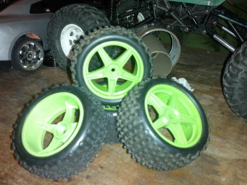 juego de ruedas para buggy 1/10 redcat o exceed
