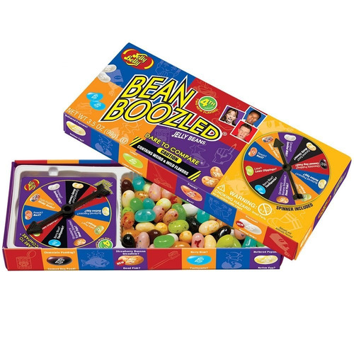juego de ruleta grageas bean boozled jelly belly + repuesto