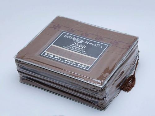 juego de sábana 200 hilos 2 plazas - 4 piezas
