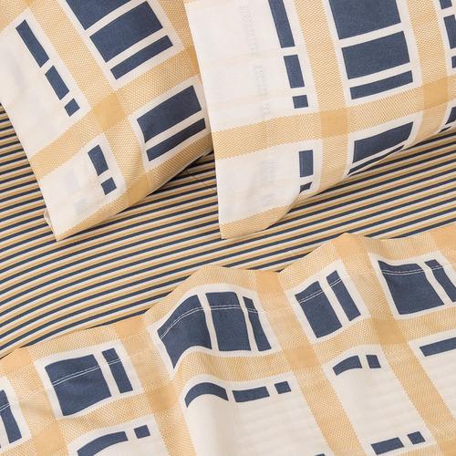 juego de sábanas arredo queen size scotch - color amarillo
