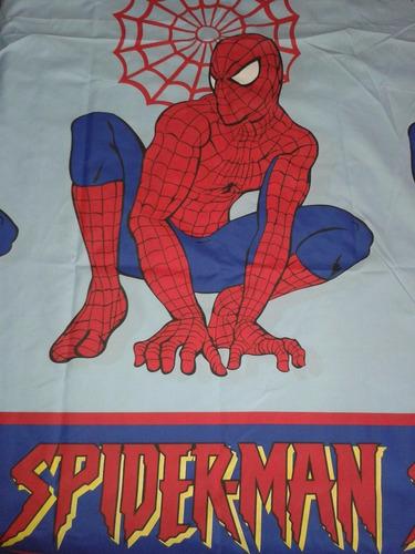 juego de sábanas cama doble spiderman 180 hilos niños nuevo