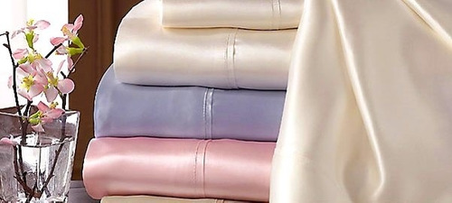 juego de sábanas de seda finas y exclusivas 2 plazas y king