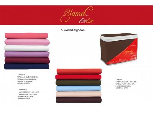 juego de sábanas individual lisas, varios colores a elegir.