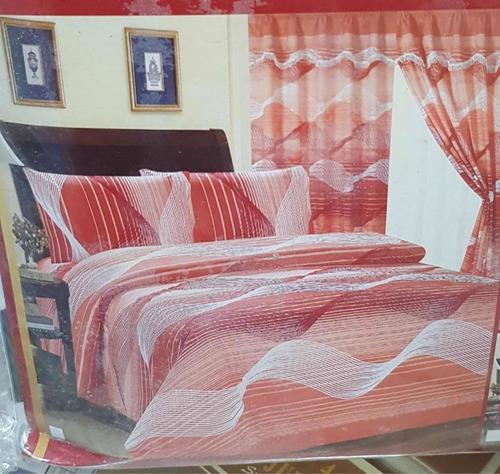 juego de sábanas individuales con cortinas