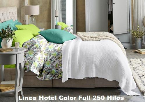 Juego De Sábanas Linea Hotel Color Full Queen Size 250 Hilos ...