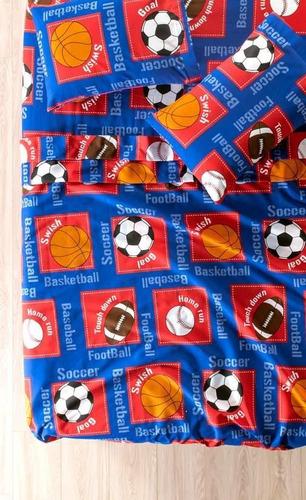 juego de sabanas mat deportivo balones vanney envio gratis