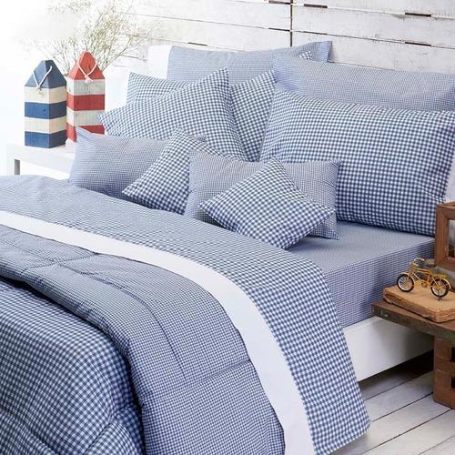 juego de sábanas nautica 1 1/2 plaza 180 hilos para colchón 1 metro ancho