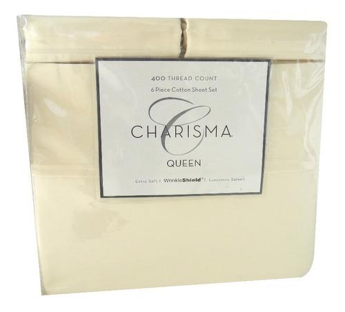 juego de sábanas queen crema umberto capozzi