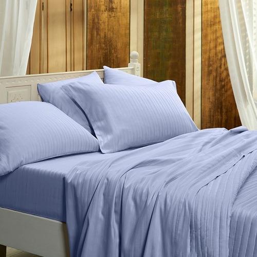 juego de sábanas queen size danubio dobby 300 hilos 100% algodón peinado