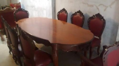 juego de sala completo, comedor luis xv y muebles de 4 pieza
