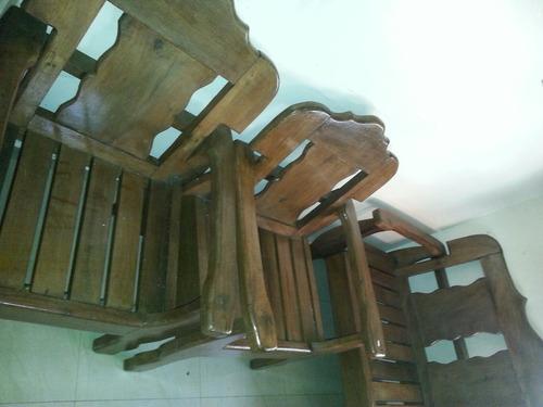 juego de sala en madera