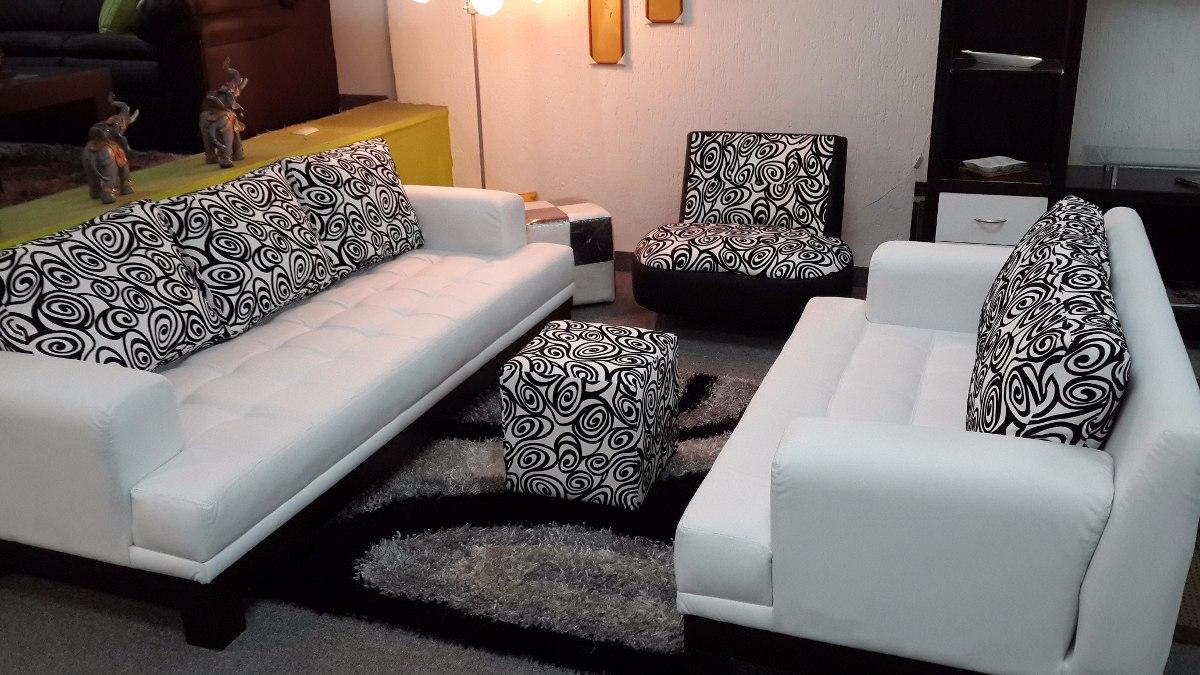 Juego de sala moderno minimalista sofa 3 y sofa 2 puestos for Living comedor en l