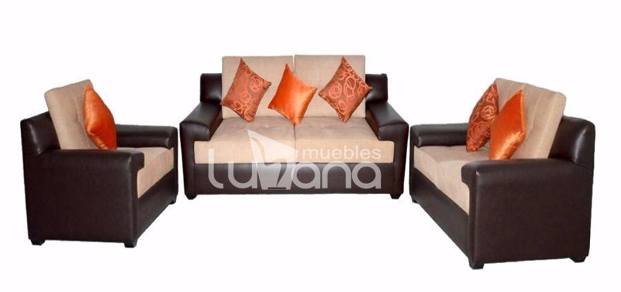 Juego de sala muebles de sala 3 2 1 sofas s for Juego de muebles de sala