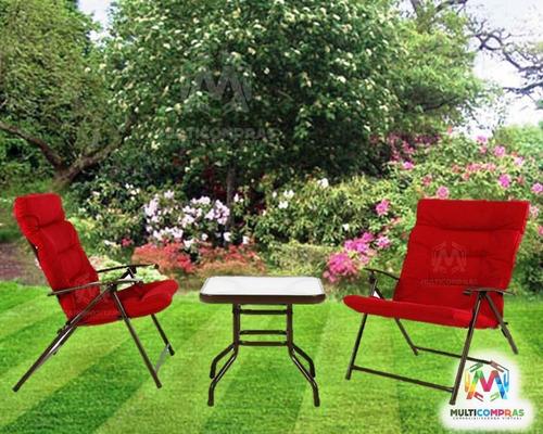 juego de sala para jardin mesa sillas moderno barato cómodo