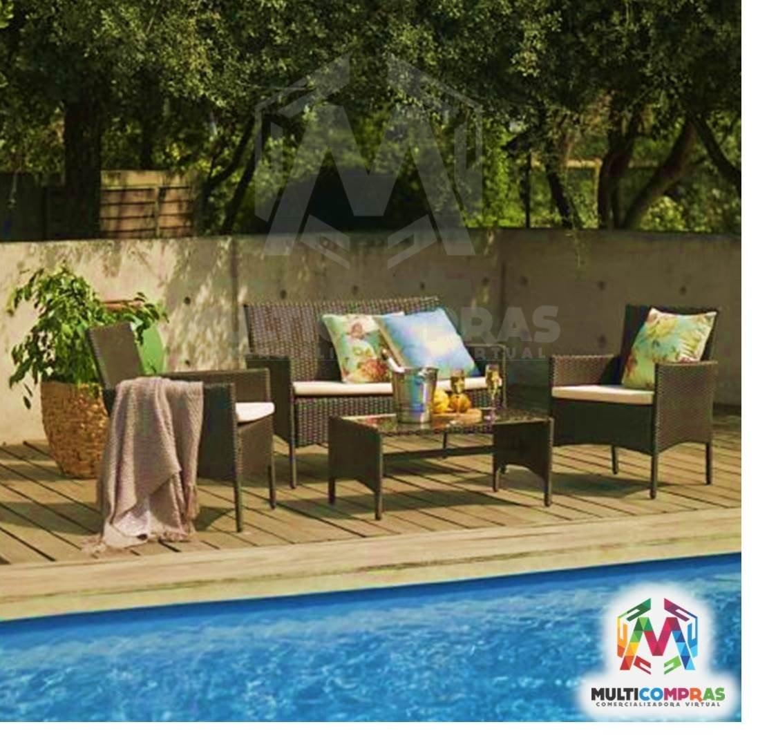 Juego de sala para terraza exteriores muebles finca silla - Muebles para terrazas exteriores ...