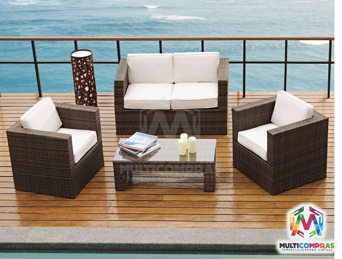 juego de sala para terraza exteriores muebles regalo navidad