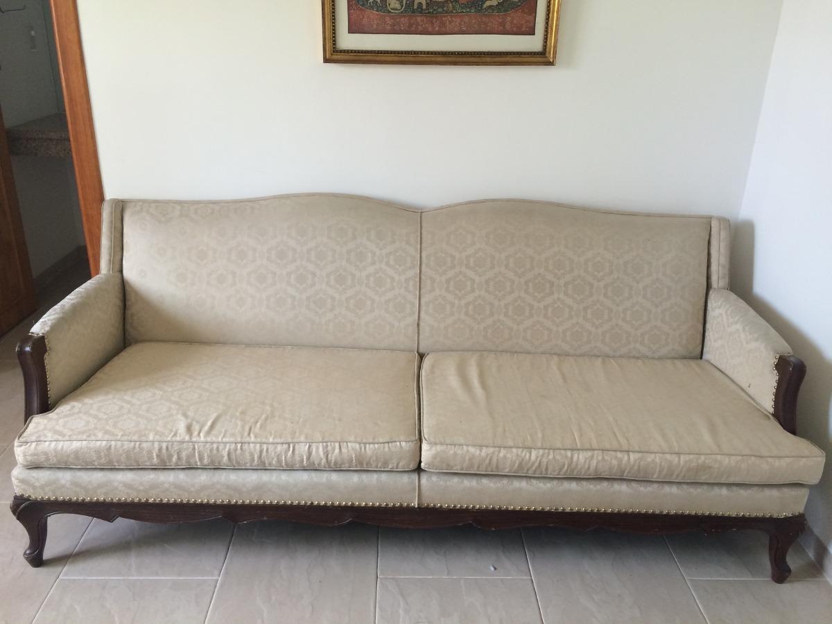 Juego de sala vintage sofa 3 plazas y dos sillones usado for Sofas y sillones a juego
