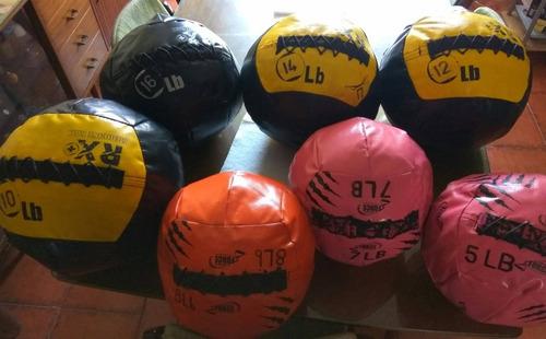 juego de seis balones medicinales de 3 a 14 lbs