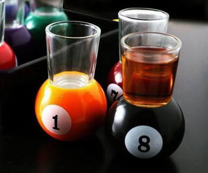 juego de shots drink bolas de billard