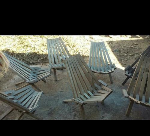 juego de sillas de madera para jardín