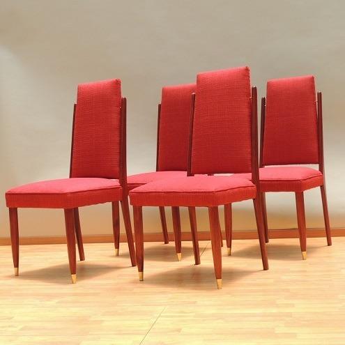 juego de sillas  estilo danés años 60s original vintage