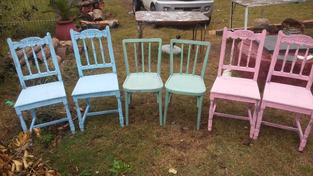 Juego de sillas patinadas en mercado libre - Sillas antiguas restauradas ...