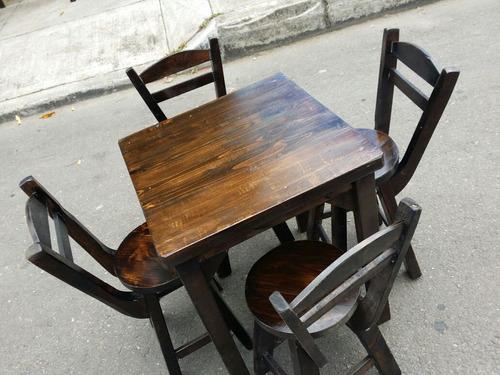 Juego de sillas y mesa bar restaurante cafeteria 175 for Mesas y sillas para cafeteria