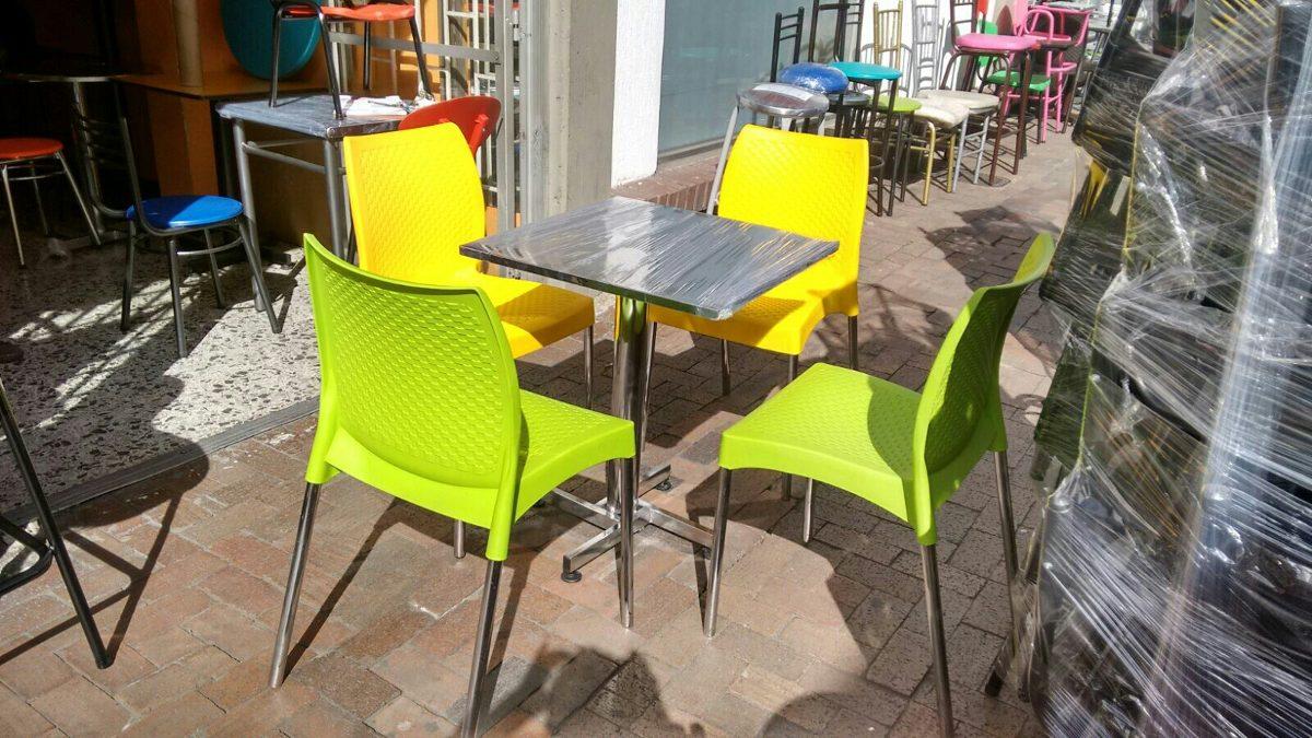 Juego de sillas y mesa para negocio de restaurante bar for Bar mercado libre