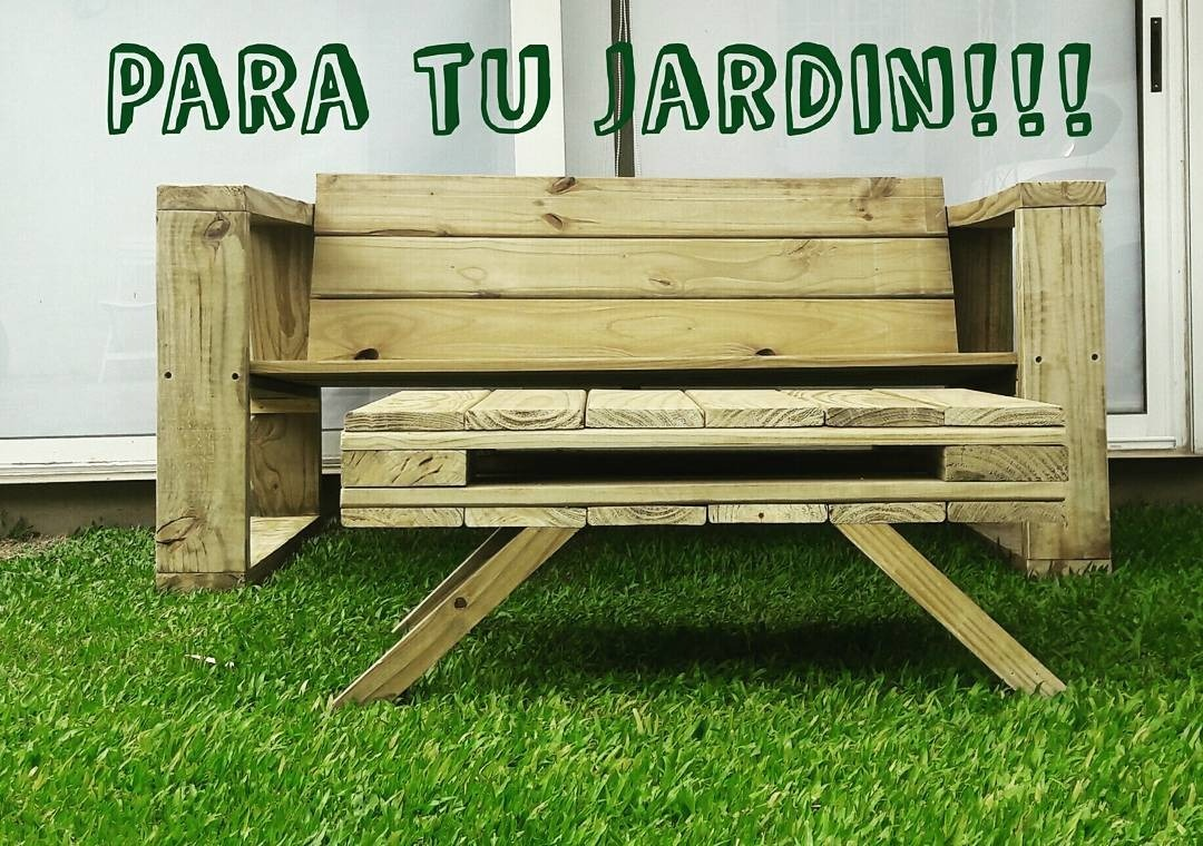 Juego De Sillon Jardin Madera Artesanal Pino Tratado Cca - $ 12.500 ...