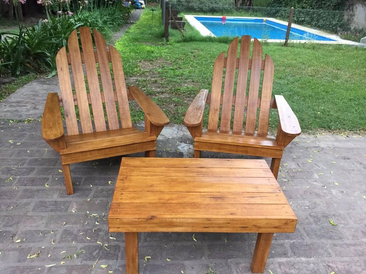 Juego De Sillones Adirondack + Mesa Galeria Jardin Quincho - $ 9.000 ...