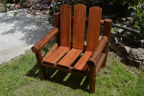 juego de sillones con troncos cca y eucaliptus 3 piezas