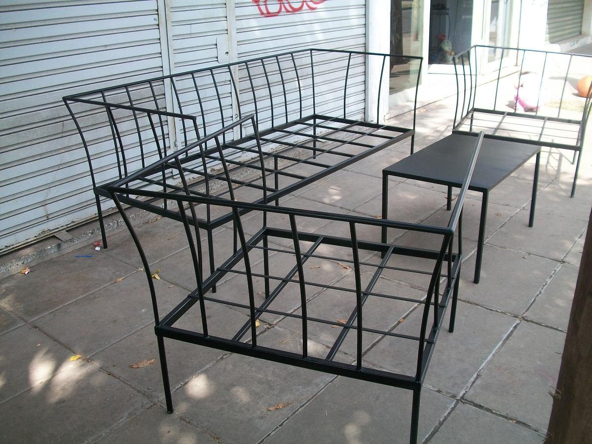 juego de sillones de hierro ideales para jardin