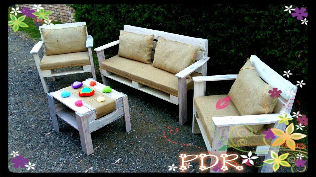 fotos de sofas hechos con palets Juego De Sillones Hechos Con Palets