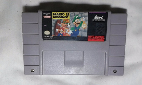 juego de super nintendo mario is missing