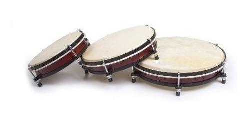 juego de tambor de mano 8 10 12 parche de piel parquer