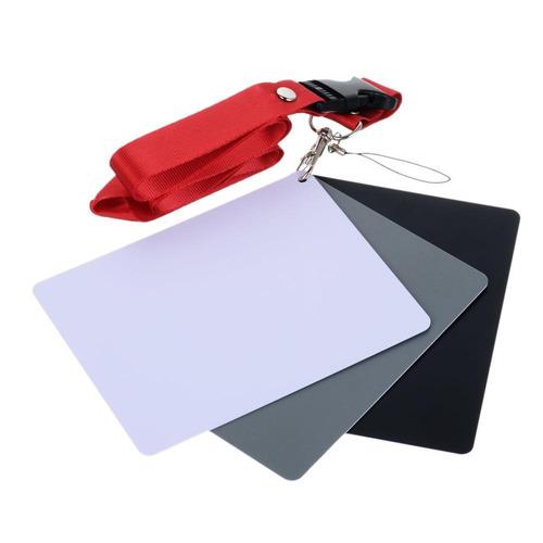 juego de tarjeta gris 18% para balance de blancos manual fot