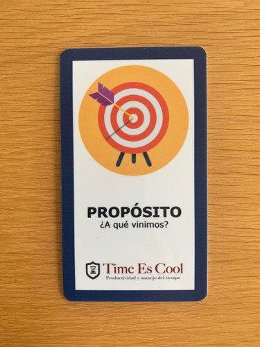 juego de tarjetas para hacer reuniones efectivas