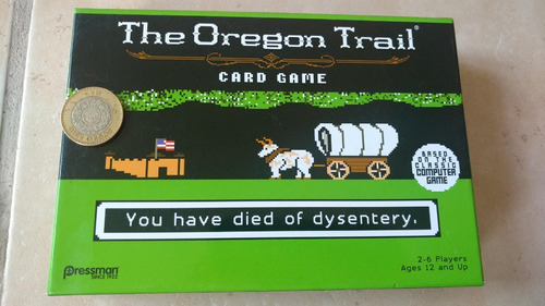 juego de tarjetas the oregon trail card game