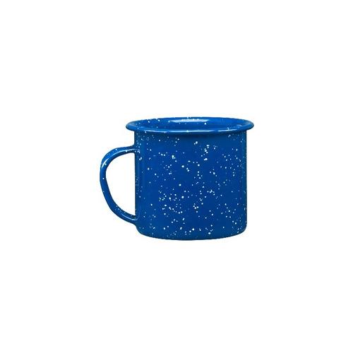 juego de taza café de peltre, 6 piezas azul