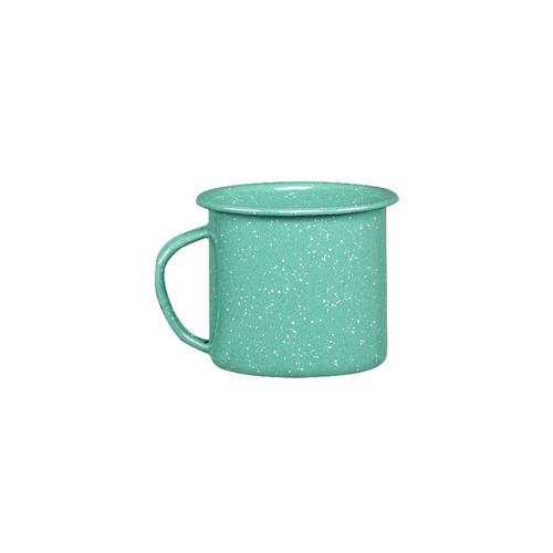 juego de taza café de peltre, 6 piezas menta
