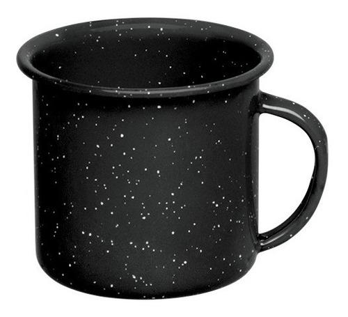 juego de taza café de peltre, 6 piezas negro