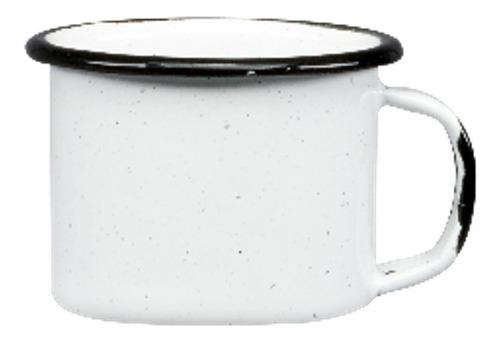 juego de taza mezcalera de peltre, 6 piezas blanco