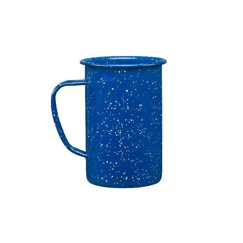 juego de taza (tarro) cervecero de peltre, 6 piezas azul